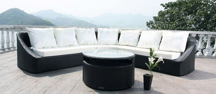 gartenm bel aus polyrattan. Black Bedroom Furniture Sets. Home Design Ideas