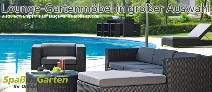 garten lounge m bel online kaufen bei spass im. Black Bedroom Furniture Sets. Home Design Ideas